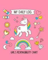My Daily Log Girl's Responsibility Chart