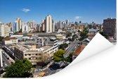 Skyline van het Zuid-Amerikaanse Goiânia in de middag Poster 90x60 cm - Foto print op Poster (wanddecoratie woonkamer / slaapkamer)
