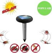 Ultrasone Verjager Op Zonne Energie - Bestrijd en Verjaagt Muizen - Ratten - Spinnen - Mollen - Kakkerlakken - Vossen - Steenmarters - Ongewenst Ongedierte Verdrijven - Zonne-Energie Verdrijver - Pest Repeller - Ultrasonic - Insectenverdelger