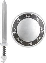 Gladiatorset schild en zwaard voor kinderen - Verkleedattribuut