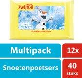 Zwitsal Frozen Snoetenpoetsers - 12x40 stuks - Kids - Voordeelverpakking