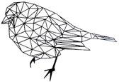 FBRK. IJsbeer 50 x 25 cm  Antiek Bruin - Geometrische dieren -Wanddecoratie