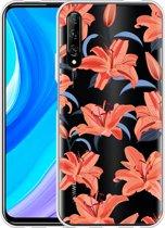 Huawei P Smart Pro Hoesje Flowers