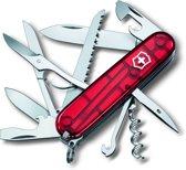 Victorinox Huntsman Zakmes 15 Functies - Transparant Rood