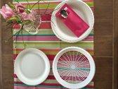 50 stuks wit paperplateholders - picknickbord - BBQ bord - party bord - eetmandjes