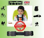 StrapStop - veiligheidsgordel riem - voorkom dat Kids armen uit veiligheidsharnas halen (Grijs))