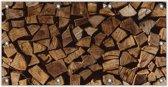 Tuinposter Houtblokken 200x100cm- Foto op Tuinposter (wanddecoratie voor buiten en binnen)