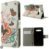 Vlinders kleuren agenda wallet case Samsung Galaxy A3