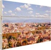 Uitzicht op Rome Hout 80x60 cm - Foto print op Hout (Wanddecoratie)