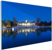 De Retreat bij nacht Glas 30x20 cm - Foto print op Glas (Plexiglas wanddecoratie)