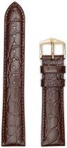 Hirsh Horlogeband -  Crocograin Donkerbruin - Leer - 12 mm