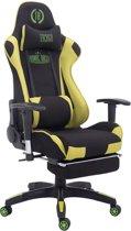 Clp TURBO - Bureaustoel - met voetsteun - stof - zwart/groen