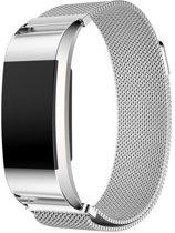 Milanees bandje Zilver geschikt voor Fitbit Charge 2
