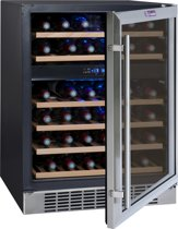 La Sommelière CVDE46-2 - Wijnklimaatkast - Inbouw, Multizone (2) 45 flessen, 6 legplanken, Energieklasse B