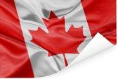 Close-up van de vlag van Canada Poster 180x120 cm - Foto print op Poster (wanddecoratie woonkamer / slaapkamer) XXL / Groot formaat!