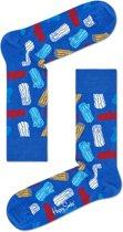 Happy Socks Logs Sokken - Blauw - Maat 36-40