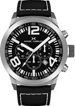 Marc Coblen  MC45S2- Horloge - 45 mm - Zwarte wijzerplaat - Zwarte horlogeband