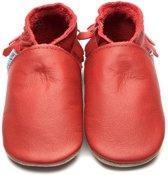 Inch Blue babyslofjes moccasin red maat M (12 cm)