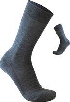 2-Pack Zakelijke Nette Merino Wollen Sokken S13 - Unisex - Grijs - Maat 39-42