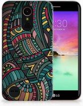 LG K10 2017 TPU Hoesje Design Aztec