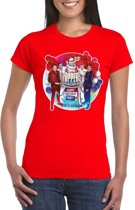 Toppers - Rood Toppers in concert 2019 officieel t-shirt dames XS