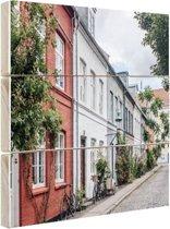 Straat Kopenhagen Hout 60x40 cm - Foto print op Hout (Wanddecoratie)