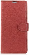 Book Case Nokia 7.1 Hoesje - Bruin