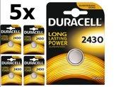 5 Stuks Duracell CR2430 3v lithium knoopcelbatterij