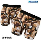Embrator 2-pack mannen Boxershort overall print camouflage bruin maat M