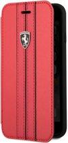 """Ferrari Offtrack PU Leren Case voor Apple iPhone 8 (4.7"""") - Rood"""
