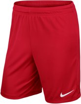 Nike Park II Knit Short Junior  Sportbroek performance - Maat XL  - Unisex - rood