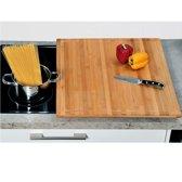 XXL FSC® Houten Snijplank / Afdekplaat bamboe hout, Met Saprand | Snij Plank | Kookplaat Afdekplaat | Afm. 56 x 50 x 4 Cm