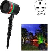 Buiten laser licht lamp ster licht statische projector licht voor werf/tuin (UK plug)