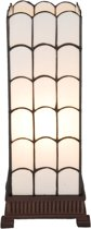 Tafellamp Tiffany 17*17*45 cm / E27/max 1*40W Wit | 5LL-5930 | Clayre & Eef