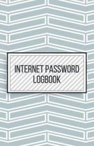 Internet Password Logbook-Small Size Alphabetical Password Notebook Organizer-5.5''x8.5'' 120 pages Book 4: Keep Track of Usernames Passwords Websites-B