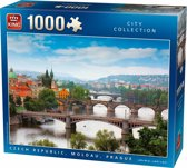 Puzzel Moldau rivier Praag 1000 stukjes