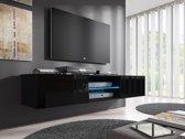 Meubella - TV Meubel Glow - Zwart - 160 cm