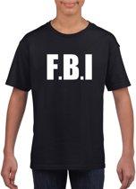 FBI tekst t-shirt zwart kinderen L (146-152)