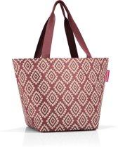 Reisenthel Shopper M Handtas - Shopper - Maat M - Polyester - 15L - Diamonds Rouge Rood;Zand