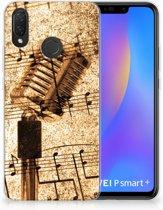 Huawei P Smart Plus Uniek TPU Hoesje Bladmuziek