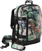 CabinMax Metz Plus – Handbagage - Rugzak 44l– Schooltas - 55x40x20cm – Lichtgewicht - Groen (MZ +GN )
