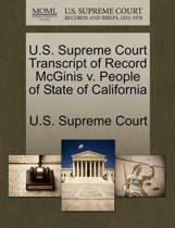 U.S. Supreme Court Transcript of Record McGinis V. People of State of California