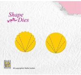 Nellies Choice Shape Mal - Flower Fan A+B SD055