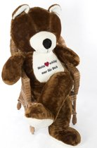 Grote bruine knuffelbeer teddybeer met i love you tekst