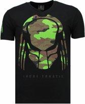 Local Fanatic Predator - Rhinestone T-shirt - Zwart - Maten: M