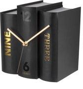 Table clock Book black paper, 20x15x20cm