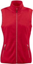 Printer Sideflip Lady Fleece Vest Red L