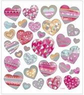 Stickers vel 15x16 5 cm 31 stuk harten 1vel