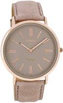 OOZOO Vintage C7352 - Horloge - 36 mm - Leer - Crème