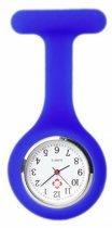 Treasure Trove® Siliconen Verpleegstershorloge Hemelsblauw - Zusterhorloge - Horloge Verpleegster - Dames - Heren - Speld - 35mm